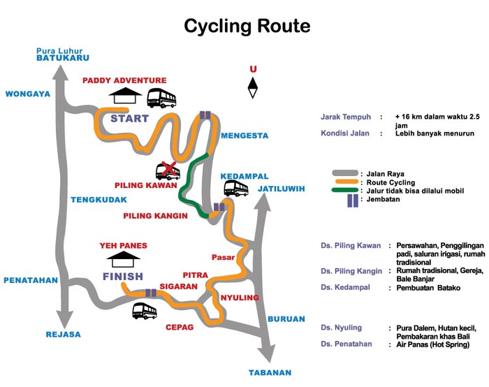 Cycling Paddy Adventure Route