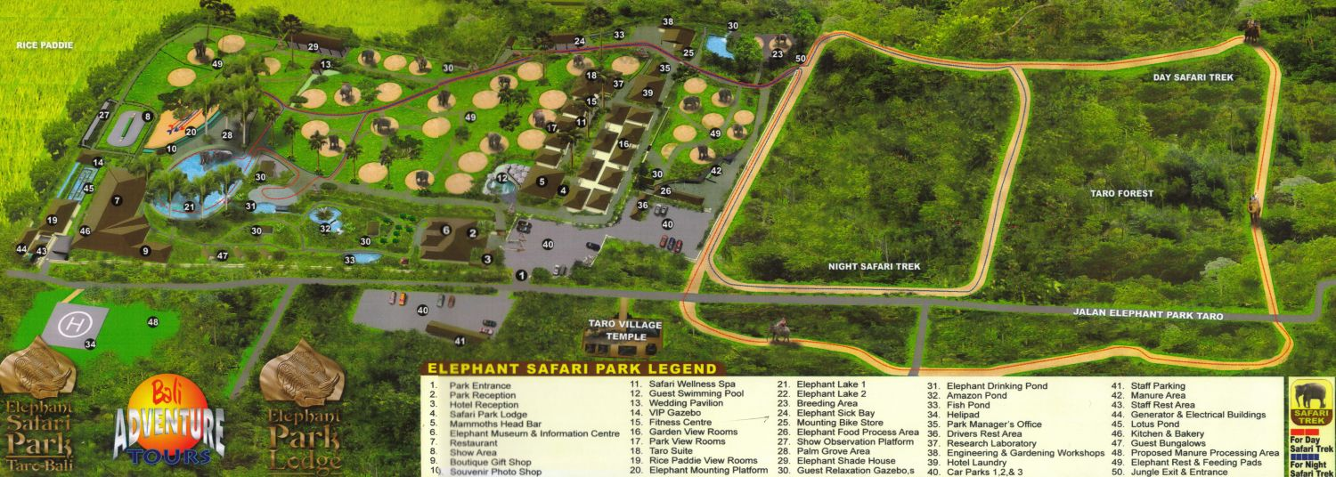 Taro Elephant Safari Park Map